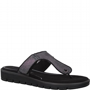 Marco Tozzi 2-2-27101-20 239 Anthracite Metallic Womens Sandals
